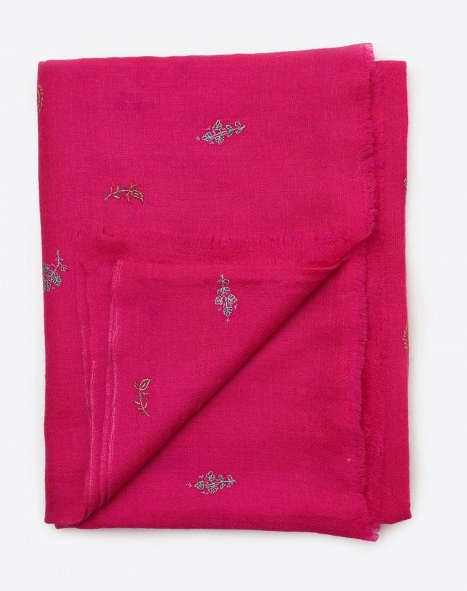 Ashanti bestickter Kaschmirschal pink