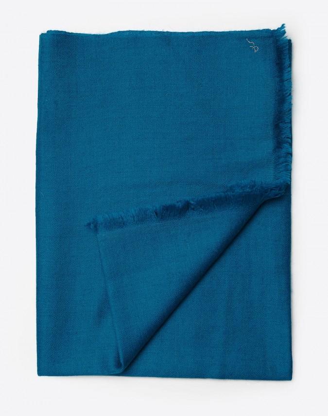 Suri Pashmina Kaschmirschal marineblau