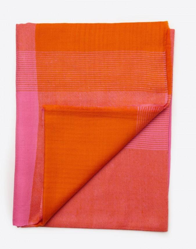 Uma Pashmina Kaschmirschal orange/pink