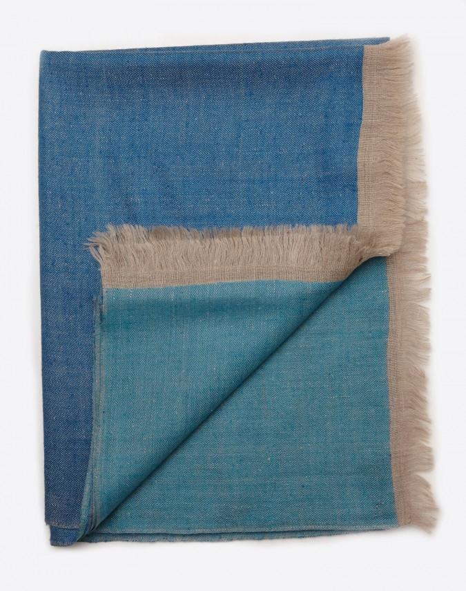 Lani Pashmina Kaschmirschal blau